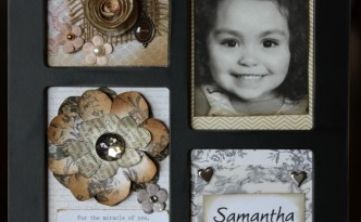 flower scrap frame