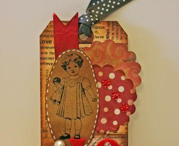 love girl valentine's day tag - gluegundiva.com